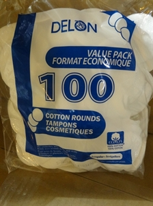 Picture of Delon 100 Ct Cosmetic Cotton Rounds